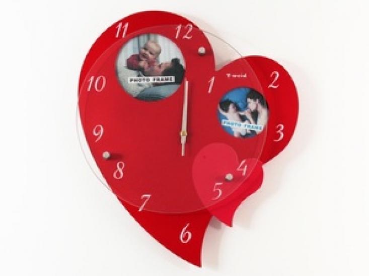 Фото - Часы настенные Большое сердце на 2 фото купить в киеве на подарок, цена, отзывы