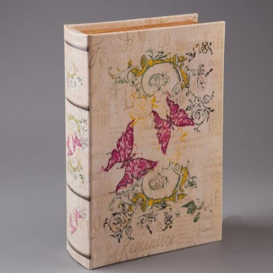 Фото - Книга сейф с ключиком Бабочки 27см купить в киеве на подарок, цена, отзывы