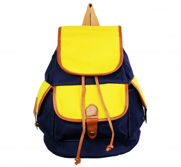 Фото - Рюкзак Холщовый Сине - желтый купить в киеве на подарок, цена, отзывы