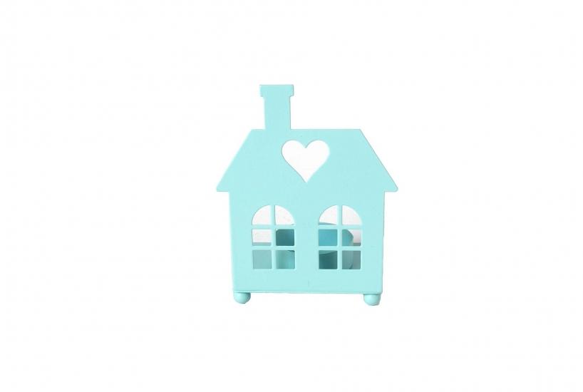 Фото - Подсвечник в форме домика (голубой) купить в киеве на подарок, цена, отзывы
