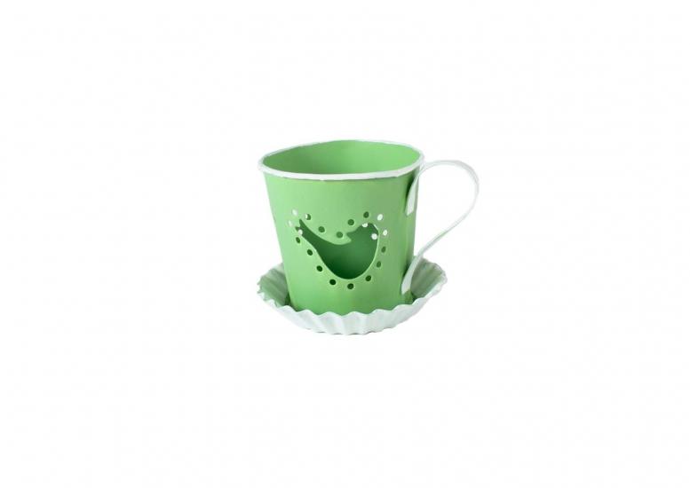Фото - Оригинальный подсвечник чашечка с птичкой купить в киеве на подарок, цена, отзывы