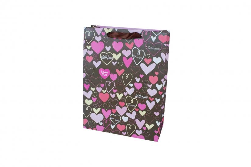 Фото - Подарочный пакет 35см Valentine купить в киеве на подарок, цена, отзывы