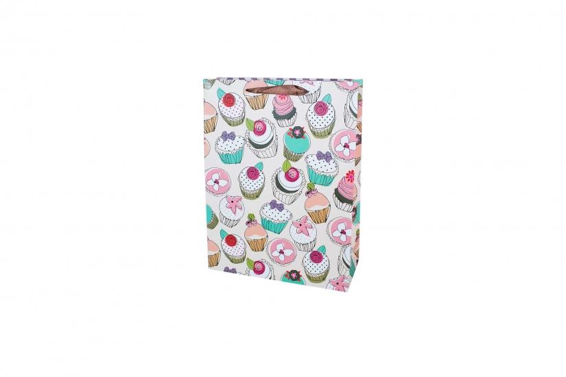Фото - Подарочный пакет 25см Cupcake купить в киеве на подарок, цена, отзывы