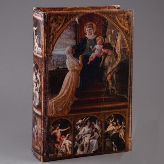 Фото - Книга сейф с ключиком Дева Мария на Небесах 27см купить в киеве на подарок, цена, отзывы