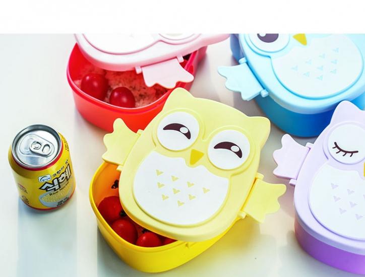 Фото - Детский ланч бокс Bento Совушка Желтый купить в киеве на подарок, цена, отзывы