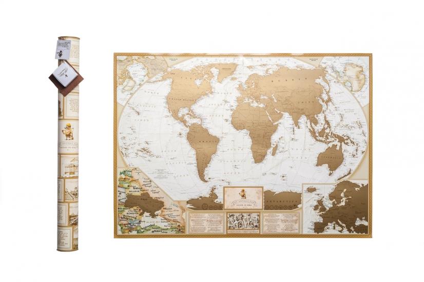 Фото - Скретч карта мира MyAntiqueMap купить в киеве на подарок, цена, отзывы