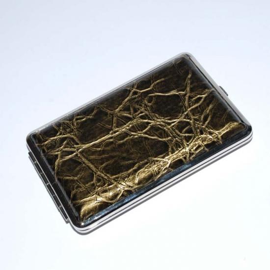 Фото - Портсигар кожа зелёный лак купить в киеве на подарок, цена, отзывы