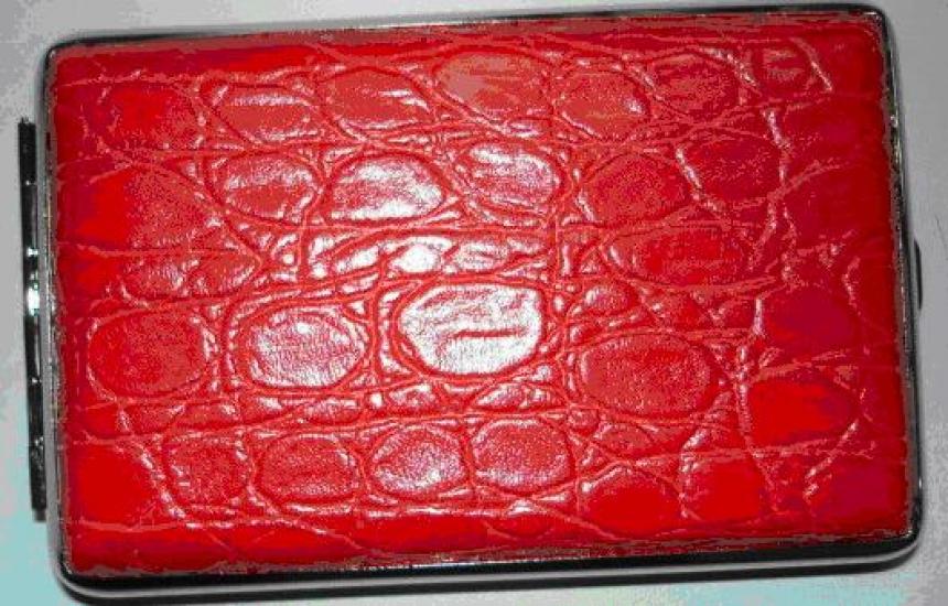 Фото - Портсигар красная кожа купить в киеве на подарок, цена, отзывы