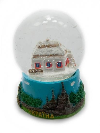 Фото - Шар со снегом Украина (мини) купить в киеве на подарок, цена, отзывы