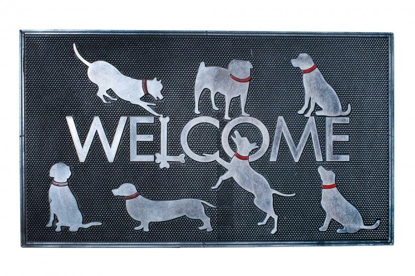 Фото - Коврик в прихожую Welcome Dogs 75 см купить в киеве на подарок, цена, отзывы