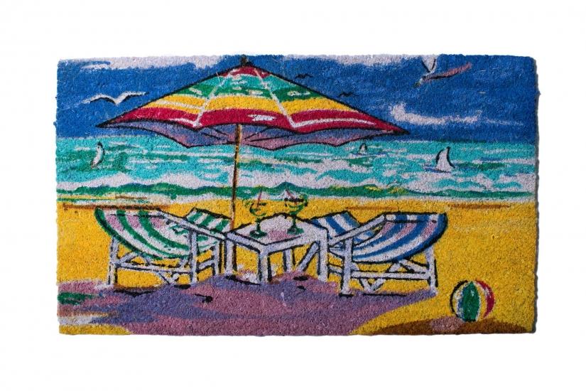 Фото - Коврик в прихожую Пляж 75 см купить в киеве на подарок, цена, отзывы