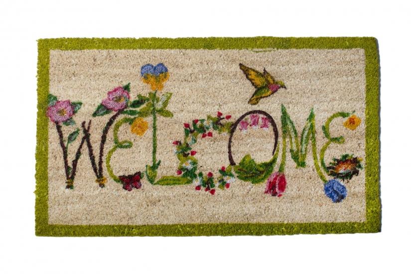 Фото - Коврик в прихожую Welcome Цветы 75 см купить в киеве на подарок, цена, отзывы