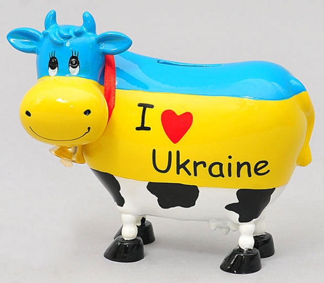 Фото - Копилка Веселая Коровка Украинка купить в киеве на подарок, цена, отзывы