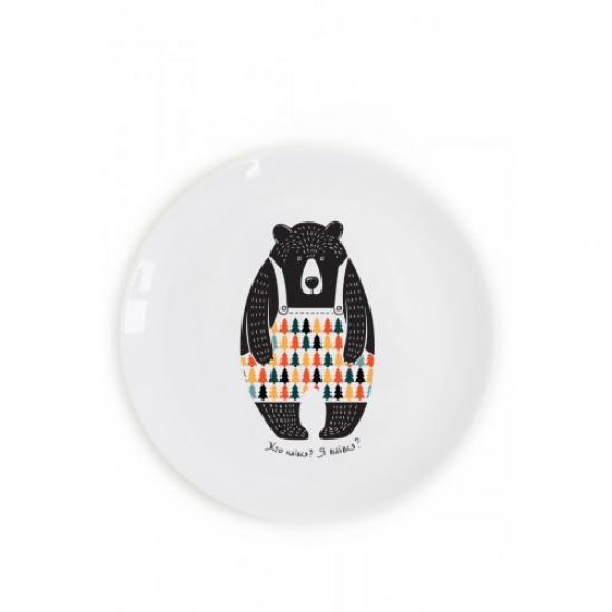 Фото - Тарелка Медведь-прожора купить в киеве на подарок, цена, отзывы