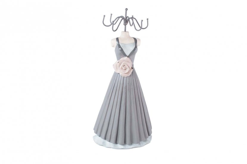 Фото - Вешалка для украшений платье с розой 34 см купить в киеве на подарок, цена, отзывы