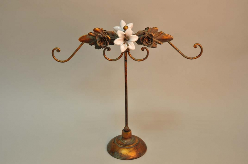 Фото - Подставка крючок Белая Лилия 36 см купить в киеве на подарок, цена, отзывы
