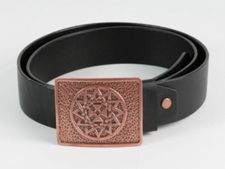Фото - Мужской кожаный ремень Звезда Эрцгаммы купить в киеве на подарок, цена, отзывы