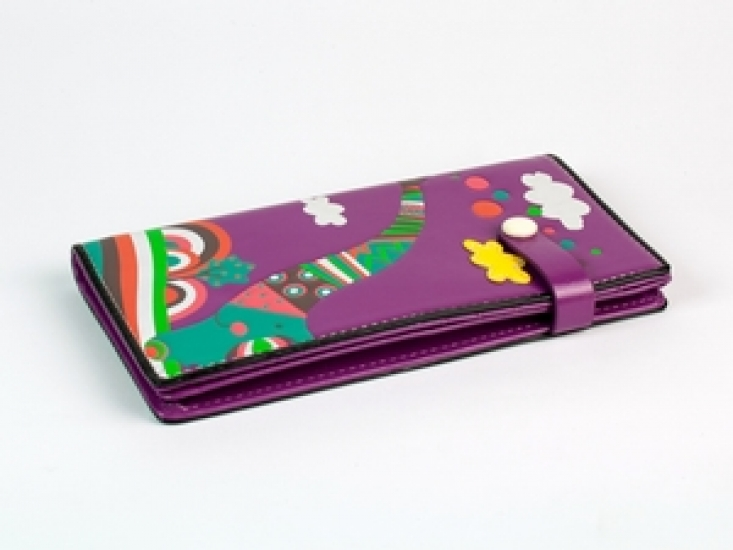 Фото - Кошелек Веселый Слон фиолетовый купить в киеве на подарок, цена, отзывы