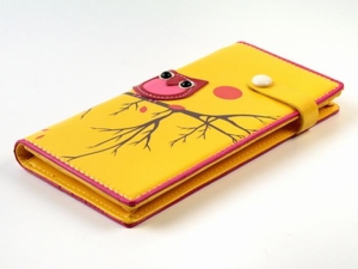 Фото - Кошелек Одинокая сова желтый купить в киеве на подарок, цена, отзывы