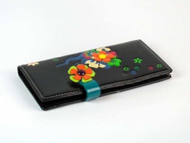Фото - Женский кошелек Венок черный купить в киеве на подарок, цена, отзывы