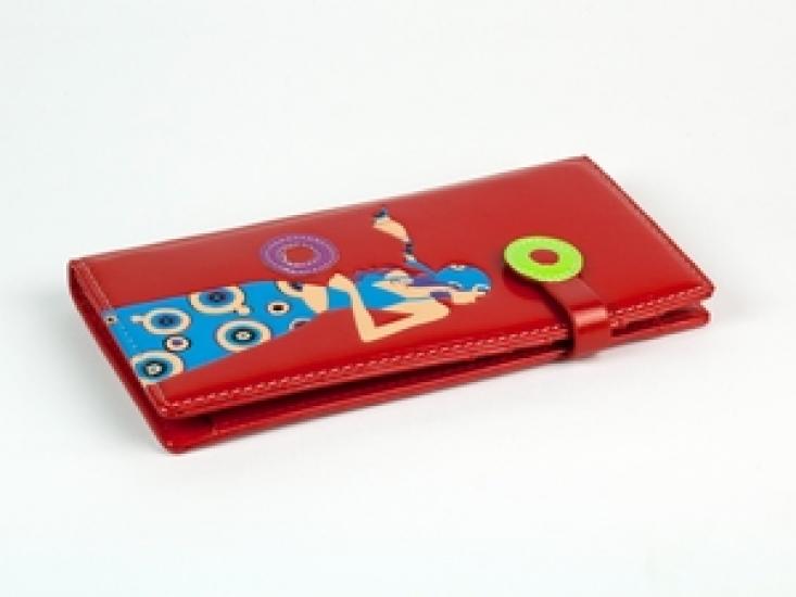 Фото - Женский кошелек Девушка красный купить в киеве на подарок, цена, отзывы