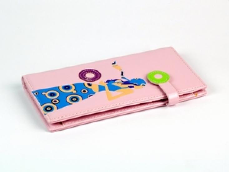 Фото - Женский кошелек Девушка розовый купить в киеве на подарок, цена, отзывы
