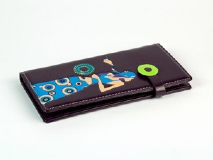 Фото - Женский кошелек Девушка фиолетовый купить в киеве на подарок, цена, отзывы