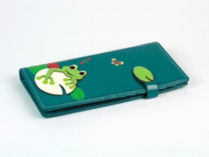 Фото - Женский кошелек с жабкой бирюзовый купить в киеве на подарок, цена, отзывы