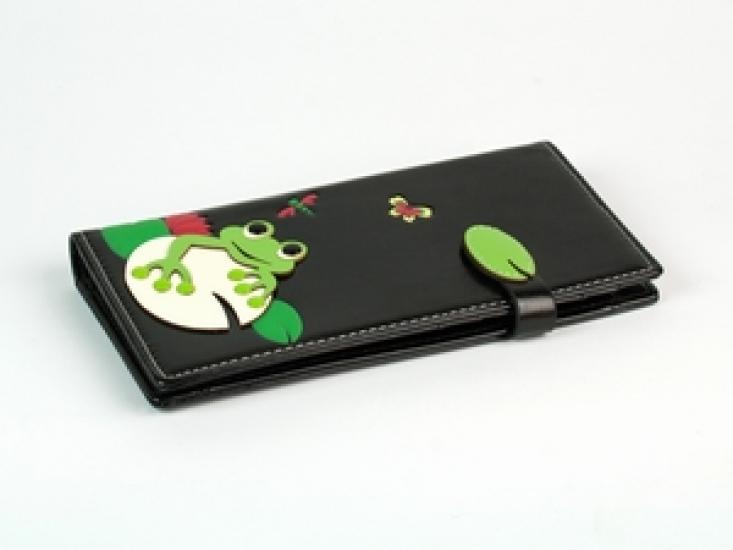 Фото - Женский кошелек с жабкой черный купить в киеве на подарок, цена, отзывы