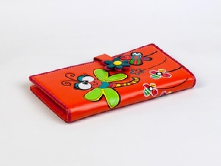 Фото - Кошелек Стрекоза оранжевый купить в киеве на подарок, цена, отзывы