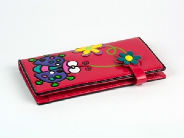Фото - Женский кошелек Счастливая Божья Коровка розовый купить в киеве на подарок, цена, отзывы