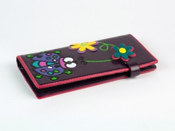 Фото - Кошелек Счастливая Божья Коровка фиолетовый купить в киеве на подарок, цена, отзывы