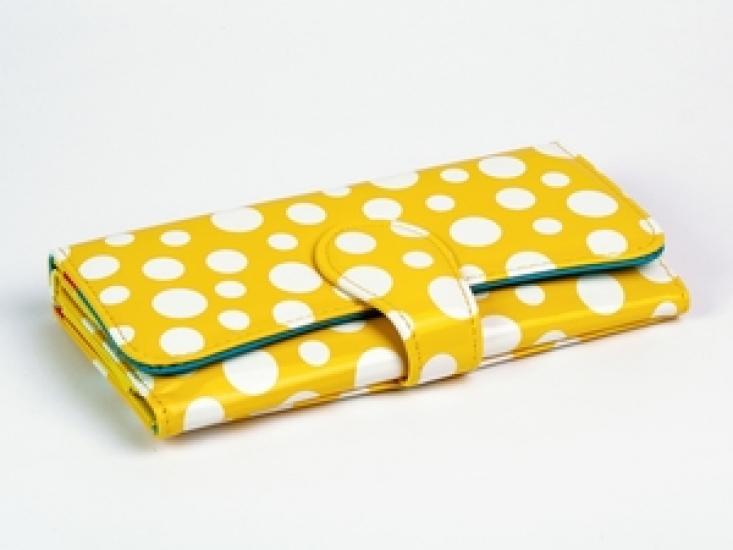 Фото - Кошелек Белый Горошек (Желтый) купить в киеве на подарок, цена, отзывы