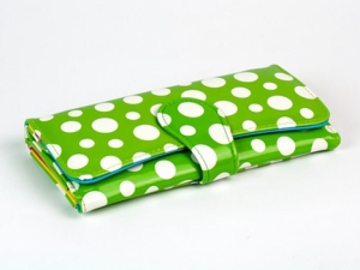 Фото - Кошелек Белый Горошек (Зеленый) купить в киеве на подарок, цена, отзывы