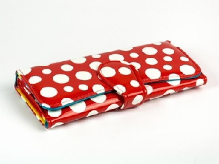 Фото - Кошелек Белый Горошек (Красный) купить в киеве на подарок, цена, отзывы