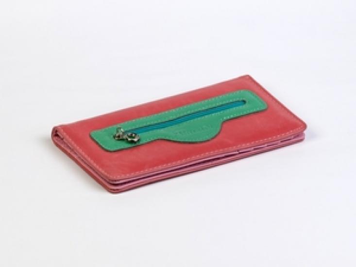 Фото - Женский кошелек Кейсис (розовый-бирюзовый) купить в киеве на подарок, цена, отзывы