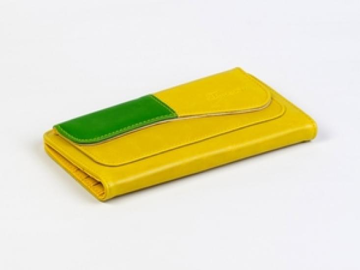 Фото - Кошелек Хоской (желтый-зеленый) купить в киеве на подарок, цена, отзывы