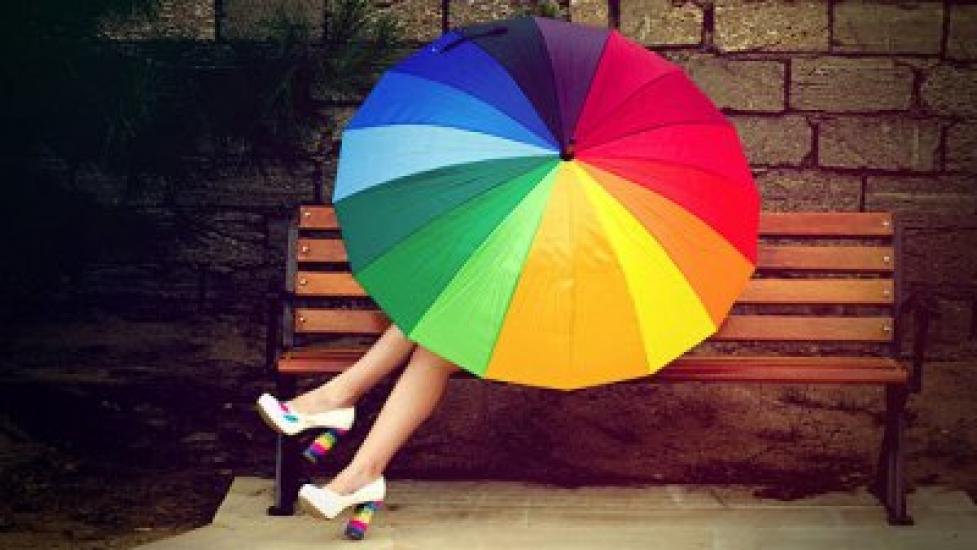 Фото - Зонт трость Радуга 16 спиц купить в киеве на подарок, цена, отзывы