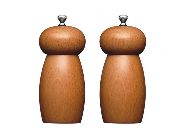 Фото - MC Набор мельниц для соли и перца деревянный 14 см купить в киеве на подарок, цена, отзывы