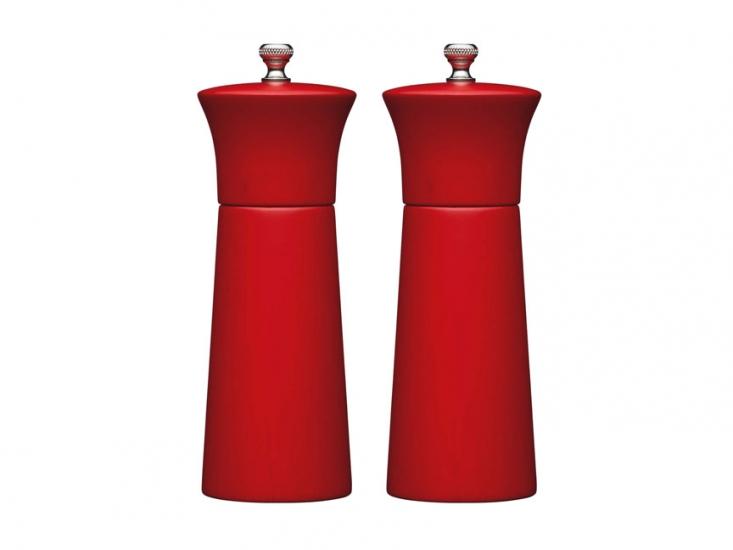 Фото - MC Набор мельниц для соли и перца деревянный красный 17 см купить в киеве на подарок, цена, отзывы