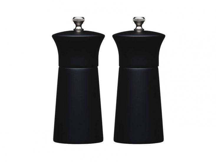 Фото - MC Набор мельниц для соли и перца деревянный черный 13 см купить в киеве на подарок, цена, отзывы