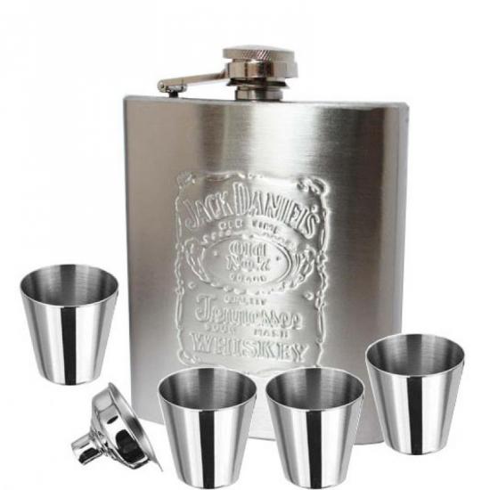 Фото - Набор для виски с флягой Jack Daniels купить в киеве на подарок, цена, отзывы
