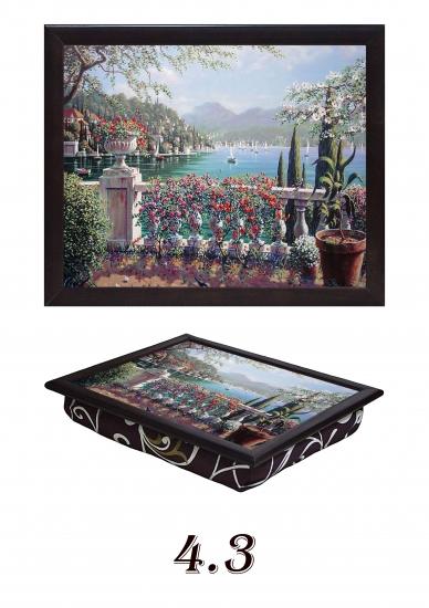 Фото - Поднос с подушкой Итальянский дворик купить в киеве на подарок, цена, отзывы