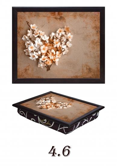 Фото - Поднос с подушкой Абрикосовая любовь купить в киеве на подарок, цена, отзывы