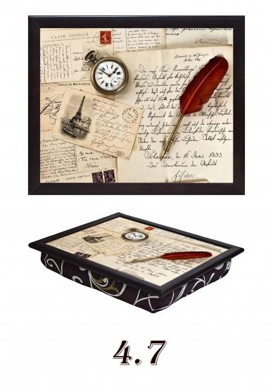 Фото - Поднос с подушкой Старые письма купить в киеве на подарок, цена, отзывы