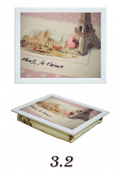 Фото - Поднос на подушке Paris Je taime купить в киеве на подарок, цена, отзывы