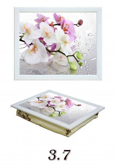 Фото - Поднос с подушкой Орхидеи купить в киеве на подарок, цена, отзывы