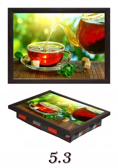 Фото - Мини поднос на подушке Ароматный чай купить в киеве на подарок, цена, отзывы