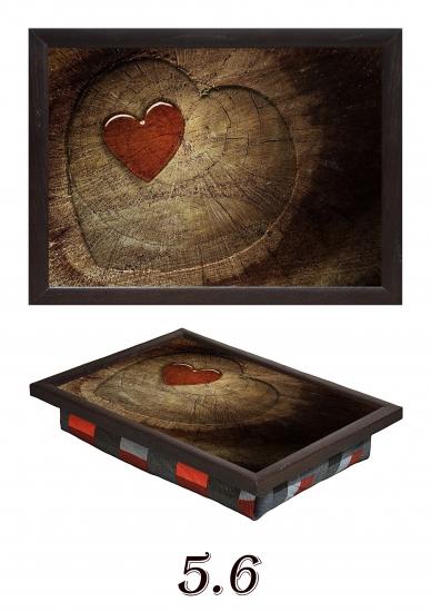 Фото - Мини поднос на подушке Два сердца купить в киеве на подарок, цена, отзывы