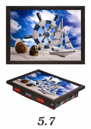 Фото - Мини поднос на подушке Морской купить в киеве на подарок, цена, отзывы